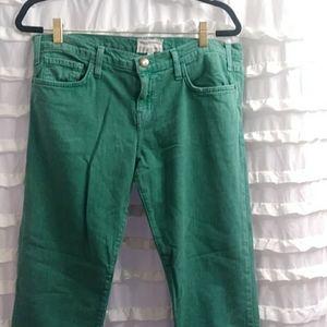 Current elliott Apple green jeans